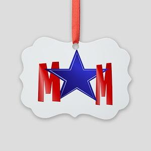 A Blue Star Mom-cap Picture Ornament