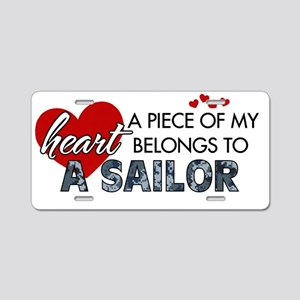 Piece of my heart Sailor Aluminum License Plate