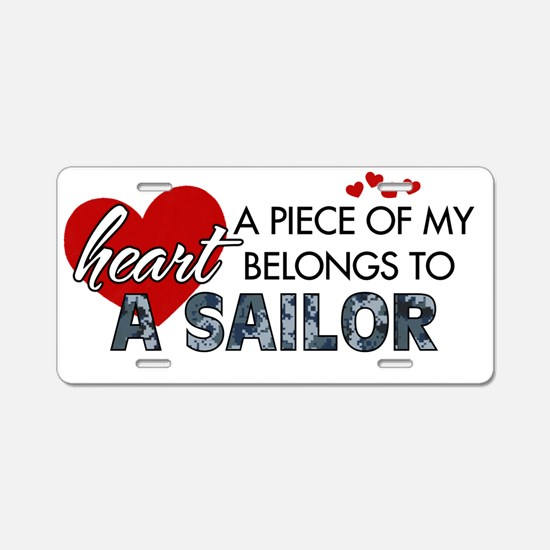 Piece of my heart Sailor Aluminum License Plate