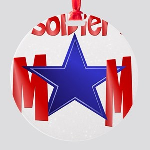 A Soldiers Mom cap Round Ornament