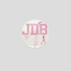 JDB initials, Pink Ribbon, Mini Button