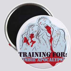 Training for Zombie Apocalypse Magnet