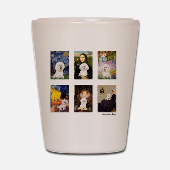 FamousArt-BichonFrise-CLEAR Shot Glass