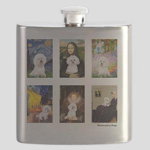 FamousArt-BichonFrise-CLEAR Flask
