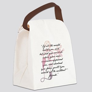 Jane Eyre Quote Canvas Lunch Bag