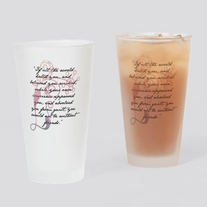 Jane Eyre Quote Drinking Glass