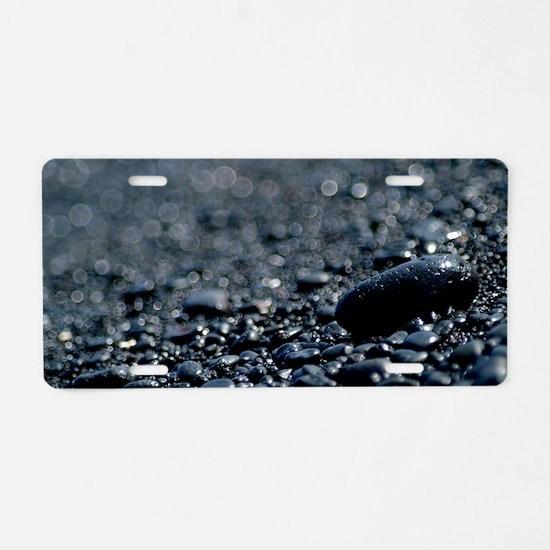 Black Rocks Aluminum License Plate