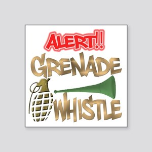 "Grenade Whistle Alert Jerse Square Sticker 3"" x 3"""