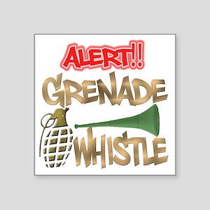 """Grenade Whistle Alert Jerse Square Sticker 3"""" x 3"""""""