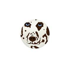Red & White Dalmatian Mini Button (10 pack)