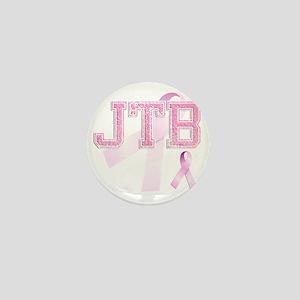 JTB initials, Pink Ribbon, Mini Button