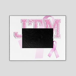JTM initials, Pink Ribbon, Picture Frame