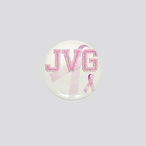 JVG initials, Pink Ribbon, Mini Button