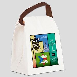 Taino Art Design Canvas Lunch Bag