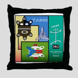 Taino Art Design Throw Pillow