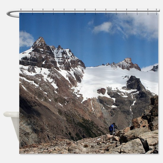 Glacier National Park mountains, Ar Shower Curtain