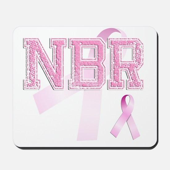 NBR initials, Pink Ribbon, Mousepad
