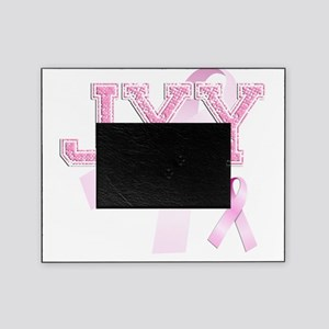JYY initials, Pink Ribbon, Picture Frame
