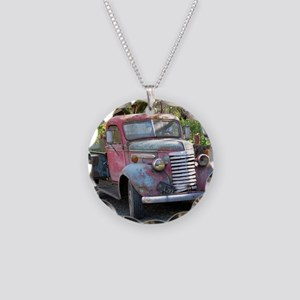 Old Truck 2 Necklace Circle Charm