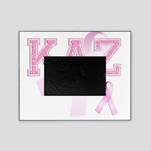KAZ initials, Pink Ribbon, Picture Frame