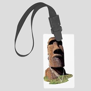 moai_2 Large Luggage Tag