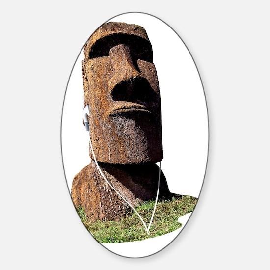 moai_2 Sticker (Oval)