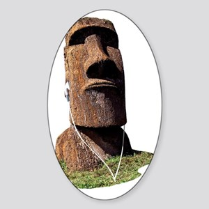 moai_2 Sticker (Oval)