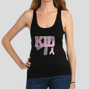 KID initials, Pink Ribbon, Racerback Tank Top