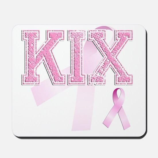 KIX initials, Pink Ribbon, Mousepad