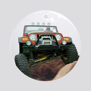 Jeep rock crawling Ornament (Round)