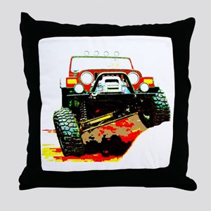 Jeep rock crawling Throw Pillow