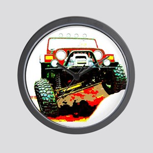 Jeep rock crawling Wall Clock