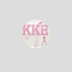 KKE initials, Pink Ribbon, Mini Button