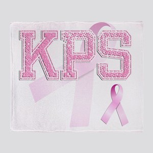 KPS initials, Pink Ribbon, Throw Blanket