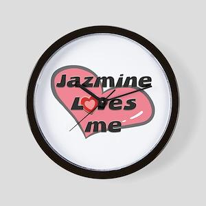 jazmine loves me  Wall Clock