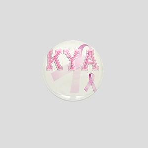 KYA initials, Pink Ribbon, Mini Button