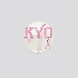 KYO initials, Pink Ribbon, Mini Button
