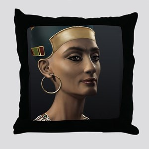 9X12-Sml-framed-print-Nefertiti Throw Pillow