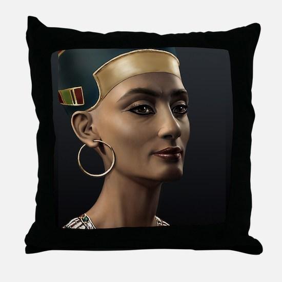 9X12-Sml-framed-print-Nefertiti Throw Pillow