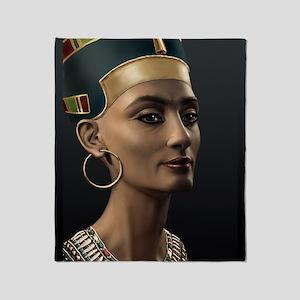 9X12-Sml-framed-print-Nefertiti Throw Blanket