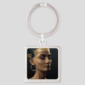 9X12-Sml-framed-print-Nefertiti Square Keychain