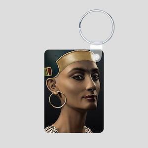 Journal-Nefertiti Aluminum Photo Keychain