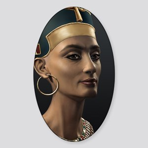 16X20-Small-Poster-Nefertiti Sticker (Oval)