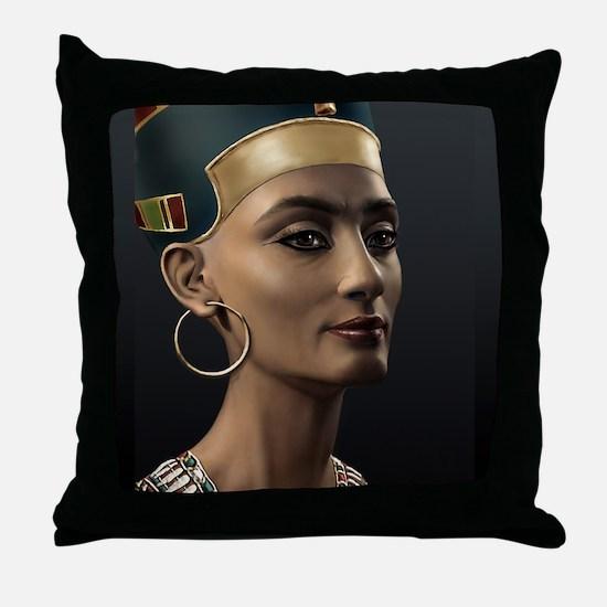 16X20-Small-Poster-Nefertiti Throw Pillow