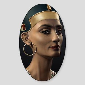 23X35-LG-Poster-Nefertiti Sticker (Oval)