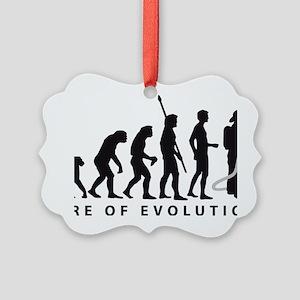 Evolution Feuerwehr 2c Picture Ornament