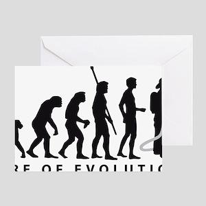 Evolution Feuerwehr 2c Greeting Card