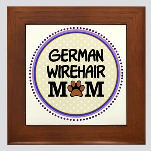 German Wirehair Dog Mom Framed Tile