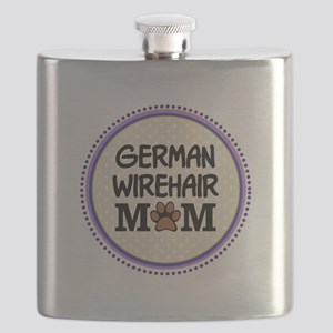 German Wirehair Dog Mom Flask