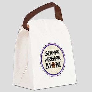 German Wirehair Dog Mom Canvas Lunch Bag